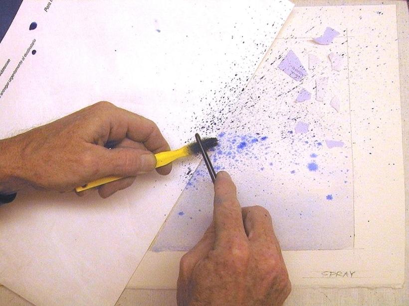 Как сделать фон красками гуашь