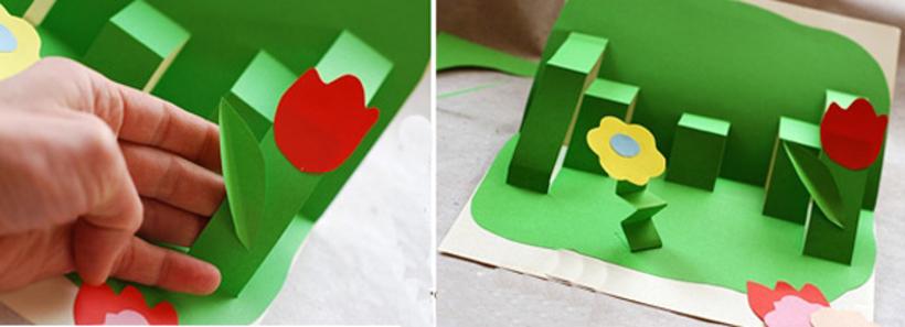 Открытка, как сделать открытку раскладушку своими руками из бумаги на 8 марта